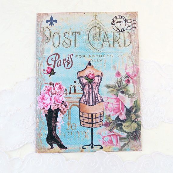 Blank Note cards  French Note Cards  Paris by EnchantedQuilling