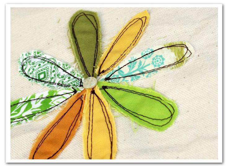free-motion flower stitch tutorial (Rebecca Sower)