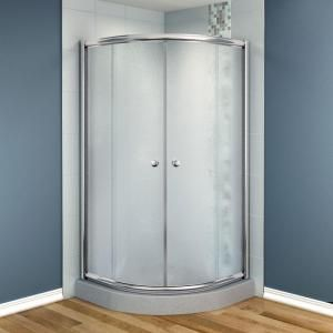 MAAX Talen 36 In. X 36 In. X 70 In. Neo Round Frameless Corner Shower Door  Frost Glass In Chrome   The Home Depot