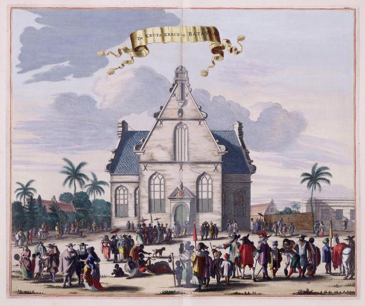 Dutch Church in 1732 in Batavia, Jakarta. Indonesia.