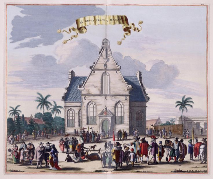 Dutch Church in 1732 in Batavia, Jakarta. Indonesia.