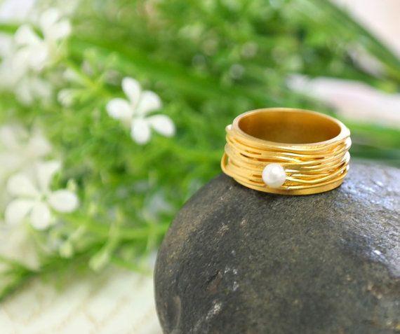 Anillo de compromiso anillo de oro la perla joyería de la