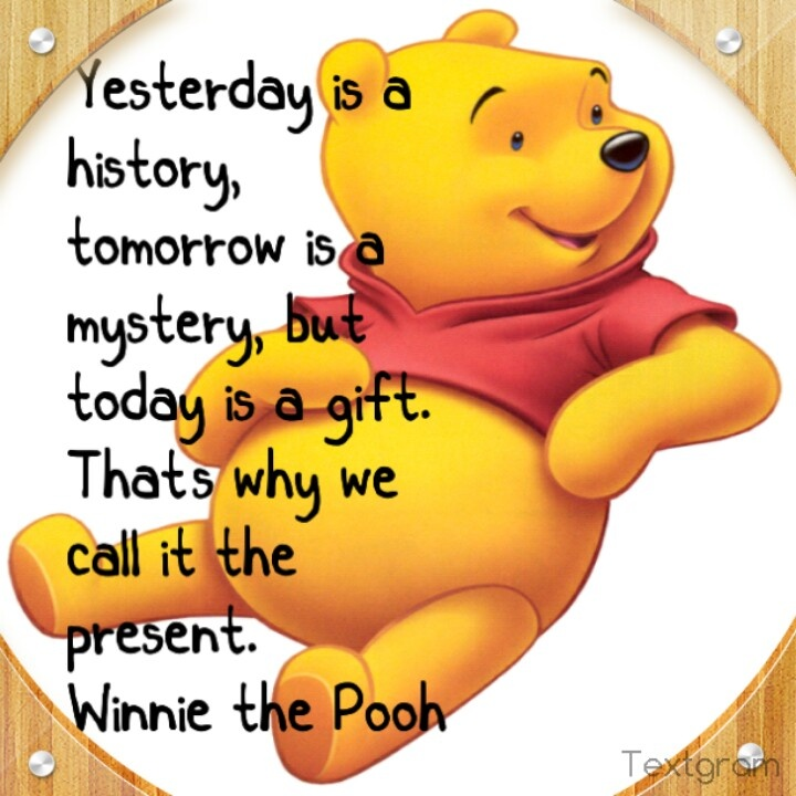 a nice quote from winnie the pooh cartoon