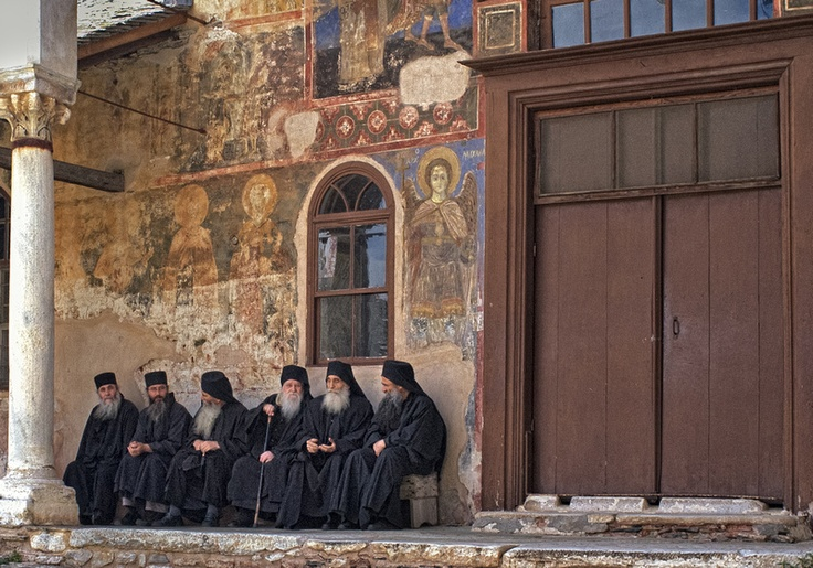 Monks from Great Lavra Monastery, Mount Athos