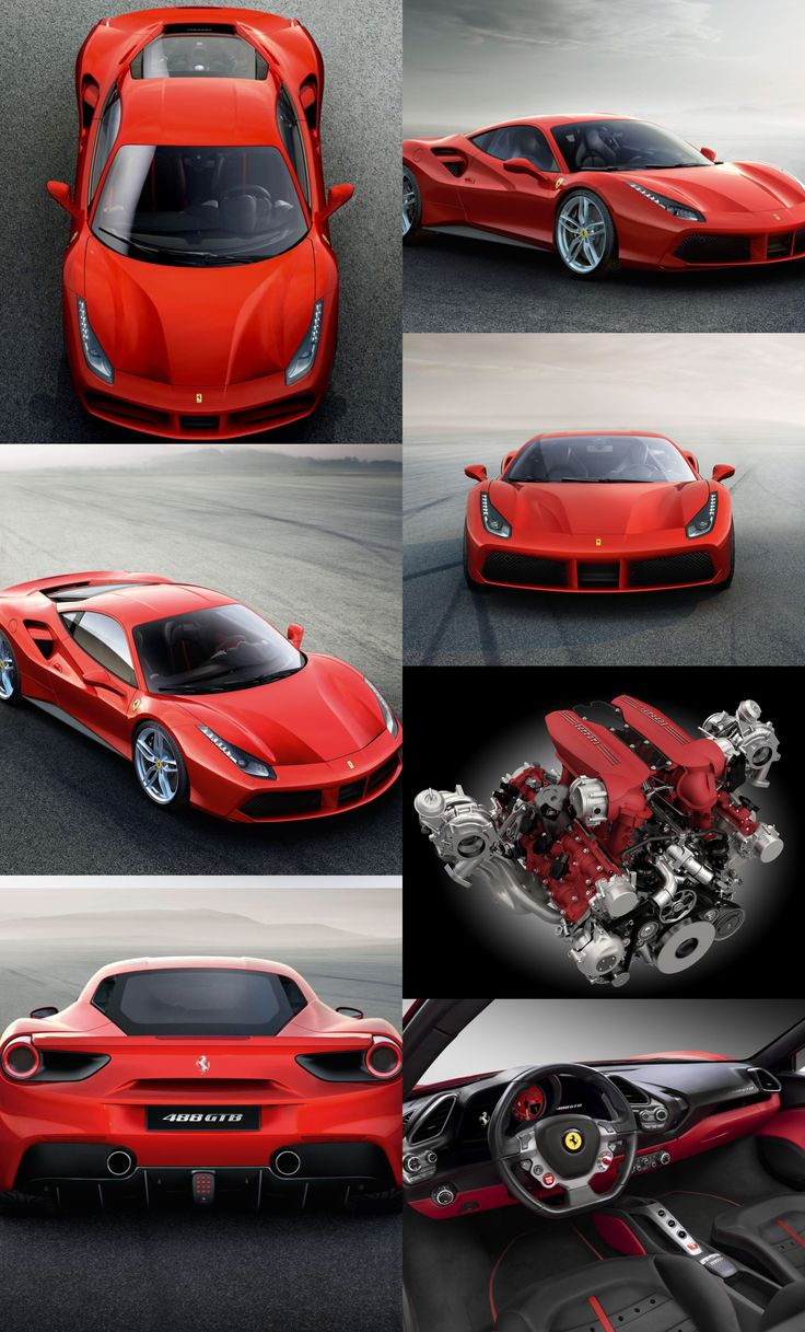 The New Ferrari 488 GTB: extreme power for extreme driving thrills #ferrari #supercars
