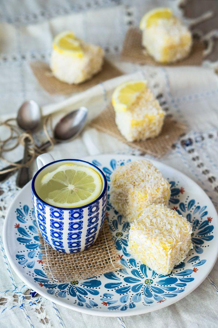 Lamington al limone e ananas