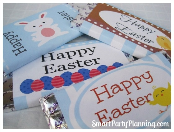 Easter Printables for Chocolate Wrappers   – Easter