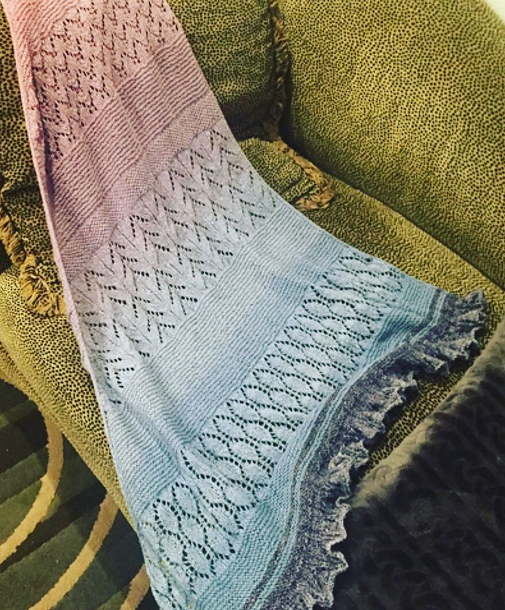 The BeSoGood shawl by HELLE SLENTE DESIGN | beautifully made by 'lynneknits', LA, CA.