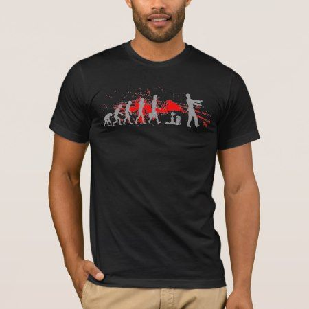 Zombie Evolutionary evolution chart funny science T-Shirt - tap to personalize and get yours