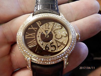 AUDEMARS PIGUET MILLENARY 18K GOLD DIAMOND WATCH