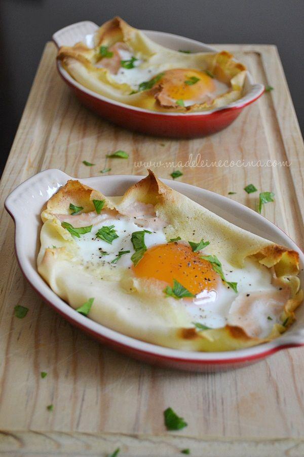 Crepas con huevo, para desayunar. Por Madeleine Cocina
