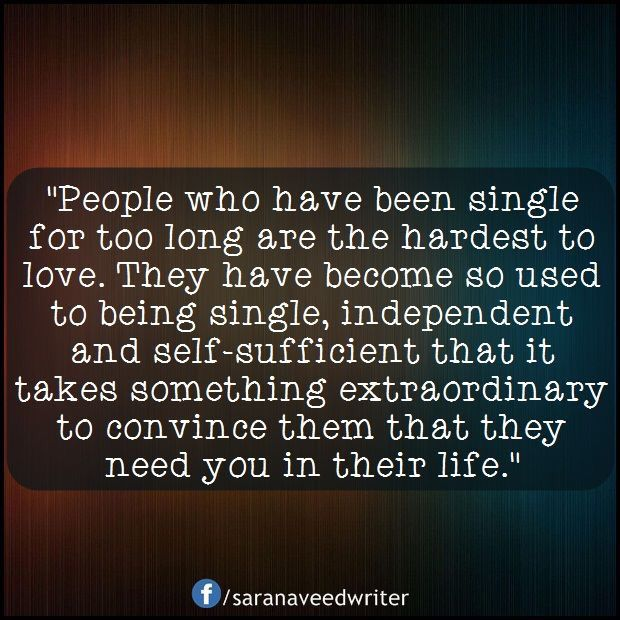 "Edit: these ""single"" quotes are a bit awkward when you have met someone. How life changes eh?"