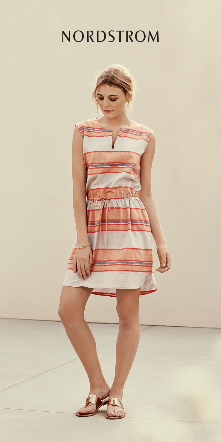 The latest essentials for chic retreats: hot trends, packing lists, travel tips and more. Best dresses for summer vacations. Loving this striped fit and flare look!