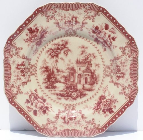 red toile salad plate & 58 best VINTAGE RED \u0026 WHITE TOILE images on Pinterest | Toile ...