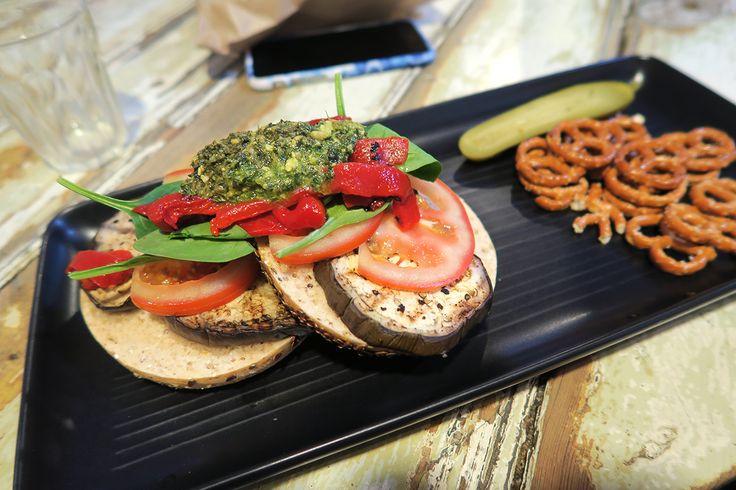 Vegan bagel at Manchester Press