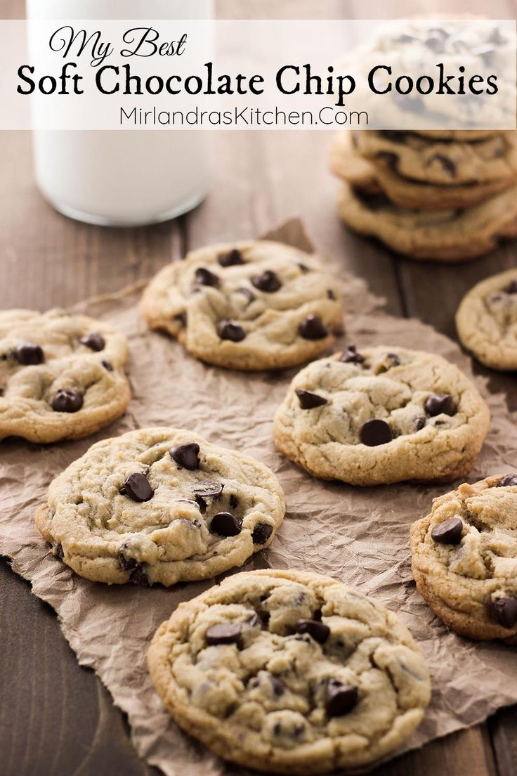 These Soft Chocolate Chip Cookies are my perfect cookie! They have just the right soft chew, tons of chocolate chips and excellent flavor!  This is the recipe for all of us die hard chocolate chip cookie lovers!  These are the best soft chocolate chip cookies I have ever made by far!