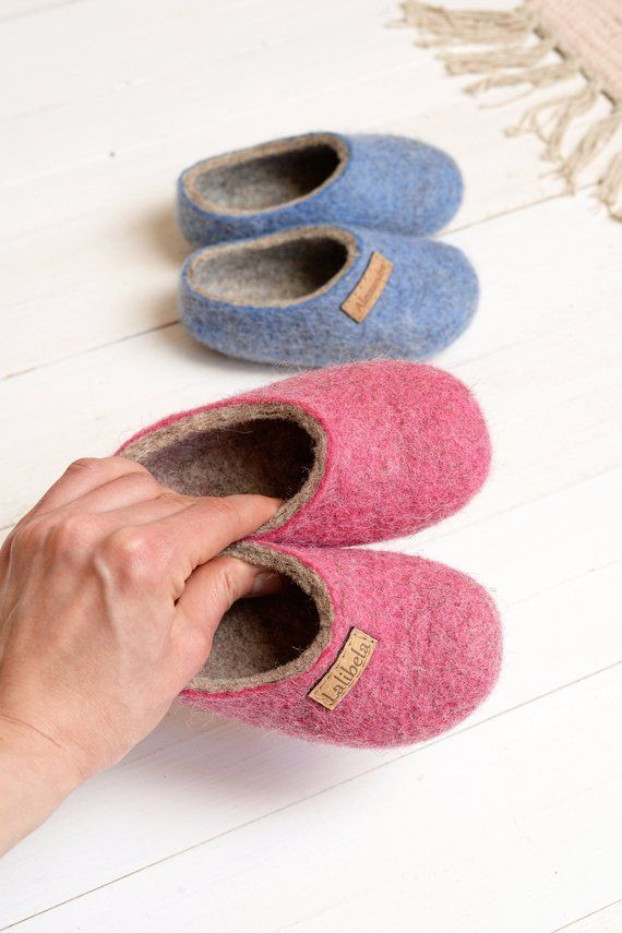 bbf9e08ed9fe1 Personal felt baby slippers- felted kids slippers- wool baby clogs ...