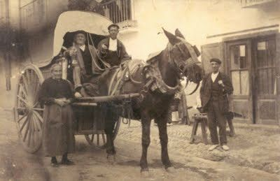 Foto antigua de arrieros MADRID