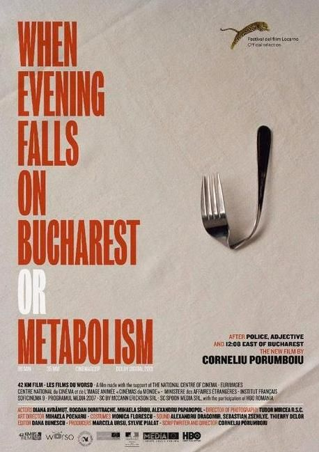 """When Evening Falls on Bucharest or Metabolism (2013) Director: Corneliu Porumboiu  Focused on a director and his leading actress while they are off the set. They discuss the discrepancies between film and digital cinema, Western and Eastern food, and try to capture an unfiltered (and seemingly impossible) sense of """"reality"""" on film."""
