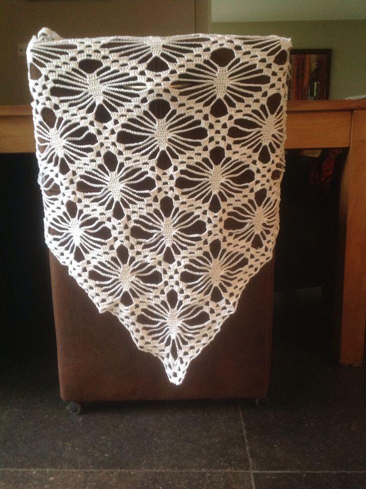 Crochet scarf. Design by drops design, the yarn is drops muskat.