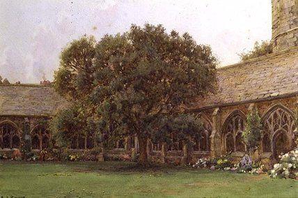 Le cloître de Ernest Arthur Rowe (1863-1922, United Kingdom)
