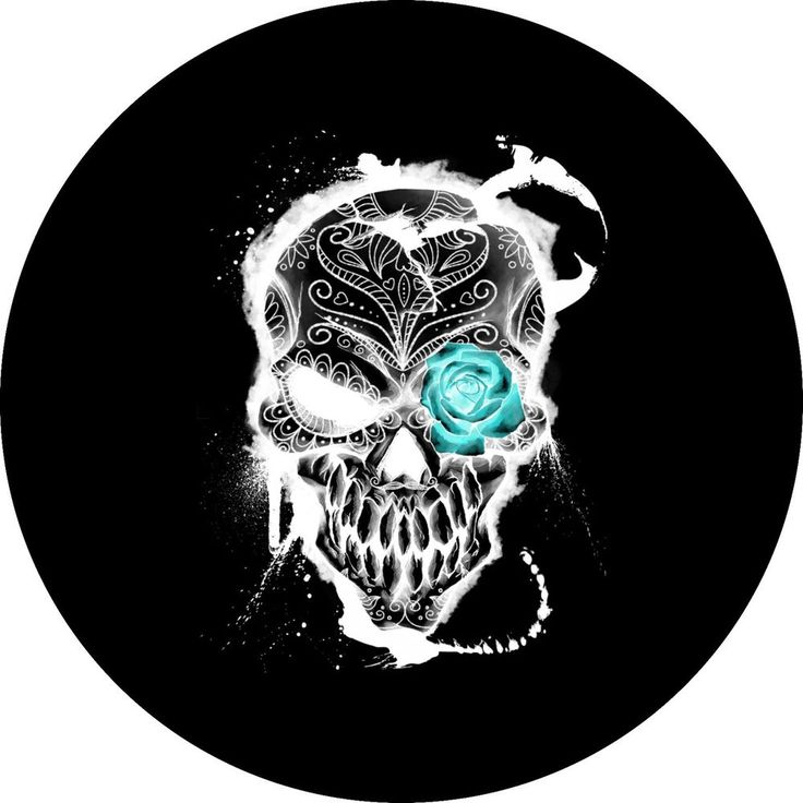 Skull (Teal Rose)Jeep, RV, Trailer, Barstool Spare Tire Cover   | eBay