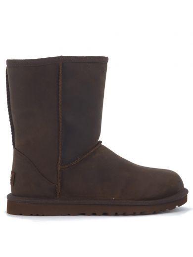 UGG Tronchetto Ugg Classic Ii Short In Pelle Marrone Effetto Invecchiato. #ugg #shoes #boots