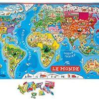 Géographie  J'ai commencé à investir en vue de l'année prochaine, sur mon budget fourniture : J'ai opté pour : Janod - Magneti'Stick Le Monde (avec vidéo de démonstration)  c'est un...