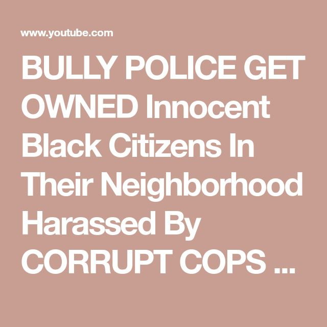 BULLY POLICE GET OWNED Innocent Black Citizens In Their Neighborhood