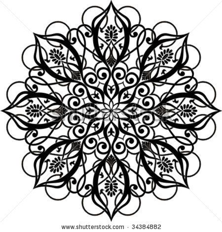 Vector illustration of Arabic circle ornament