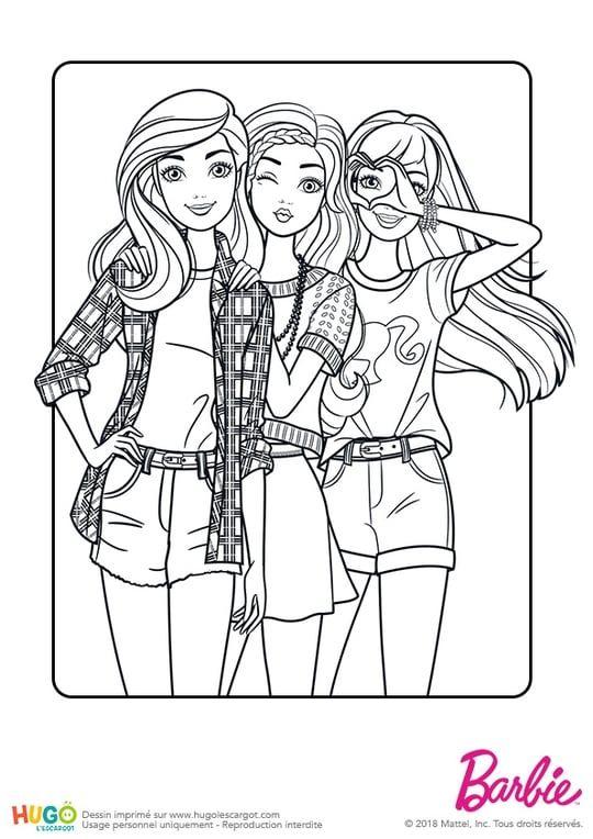 Barbie Fashionistas, la pose photo   Barbie coloring, Barbie coloring pages, Disney princess ...