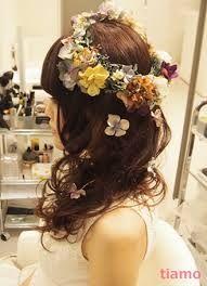 ふわっとカールアップ&ラプンツェルヘア : 理想のウェディングヘアを見つけよう♪花嫁ヘアスタイル♪【HappyWedding!】 - NAVER まとめ
