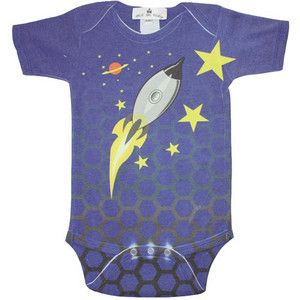 Baby Boy Tops - Stella Blu Rocketship One-Piece
