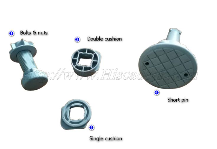 Necessary accessories for floating dock  short pin , bolts& nuts , cushions