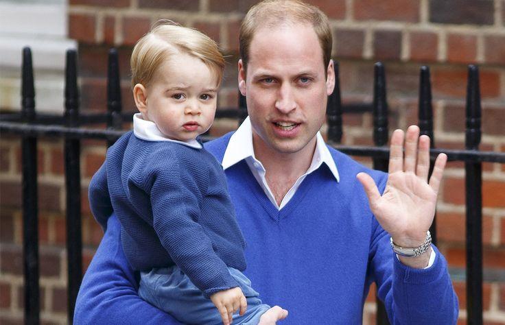 A unas horas del nacimiento de la nueva princesa de Cambridge, el Príncipe William llevó al pequeño Príncipe George al hospital para conocer a su nueva hermanita.