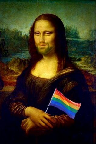 Gay Pride Mona Lisa