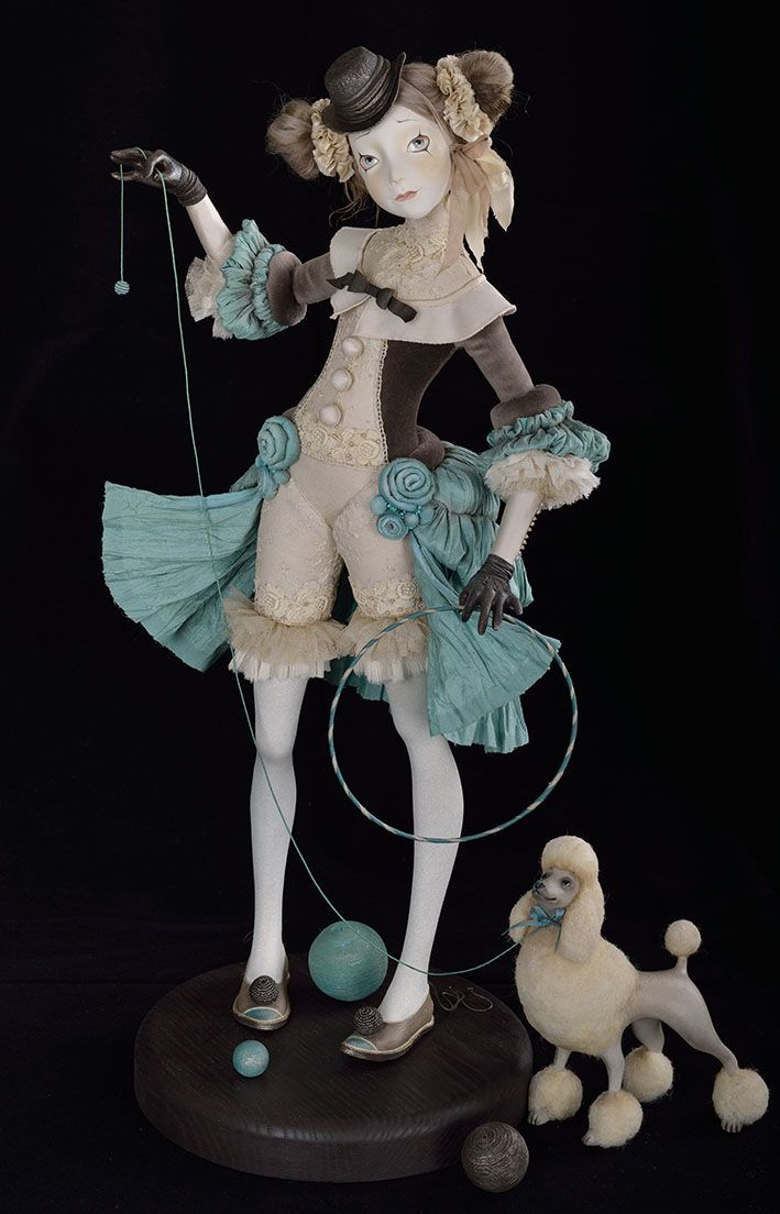 "Doll: ""Clown and a Poodle"" (Author Tamara Pivnyuk)"