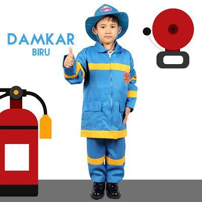 Baju Profesi Anak Pemadam Kebakaran