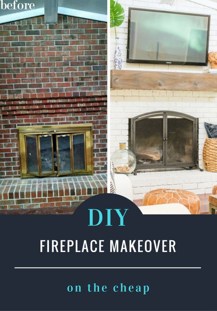 How to makeover your fireplace on the cheap and easy for Cheap home makeovers