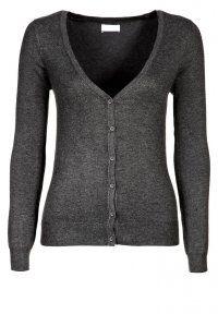 Vero Moda - GLORY NEW - Cardigan - dark grey melange