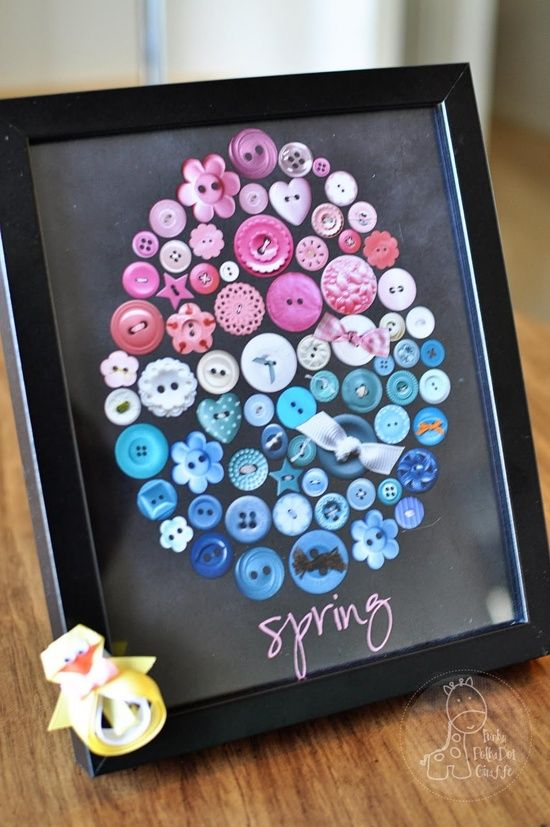 button egg art