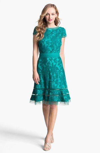 Tadashi Shoji Textured Lace Dress available at #Nordstrom