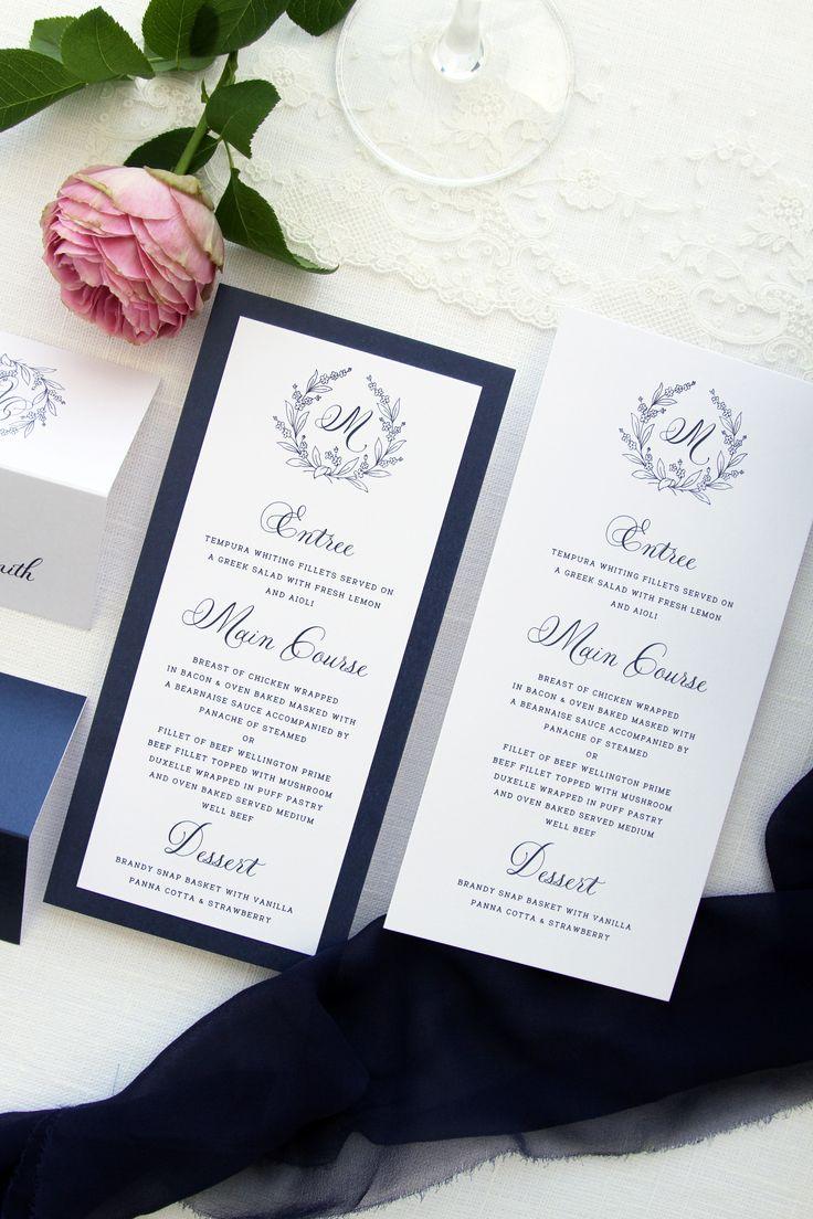 268 best Wedding Menus images on Pinterest | Wedding dinner menu ...