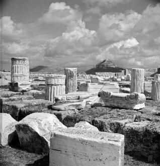 1950 ~ View of Lycabettus hill from the Acropolis