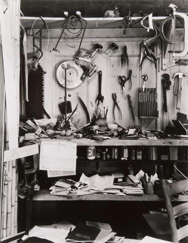 Isamu Noguchi's Studio, New York, ca 1947 -by Berenice Abbott
