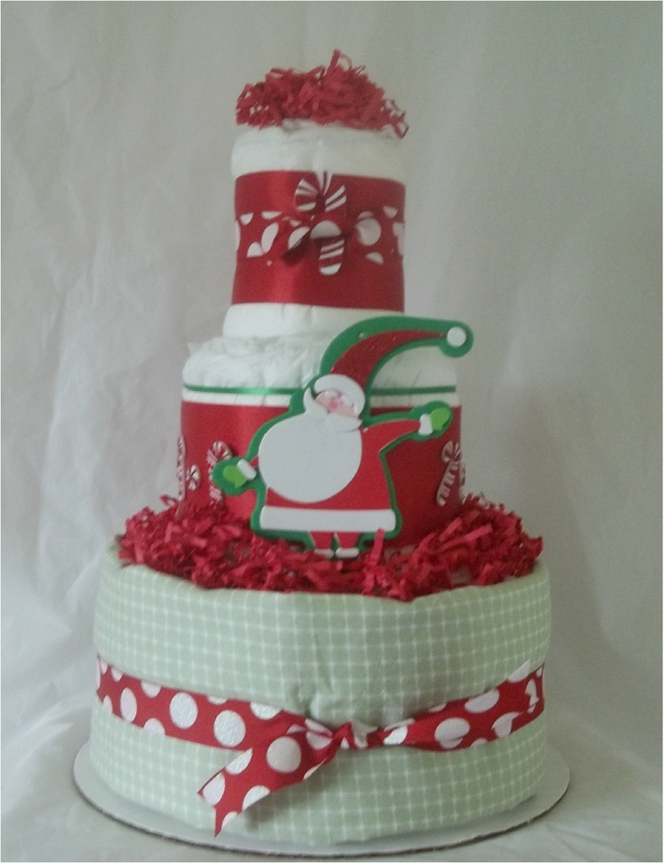 how to make christmas nappy cakes