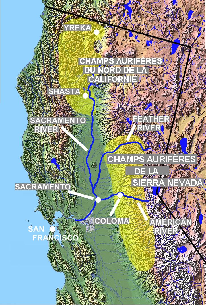 California Gold Rush | California Gold Rush Map | Gold Prospecting Equipment and Mining ...