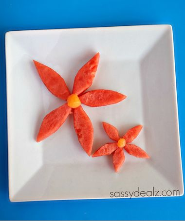 watermelon flower snack