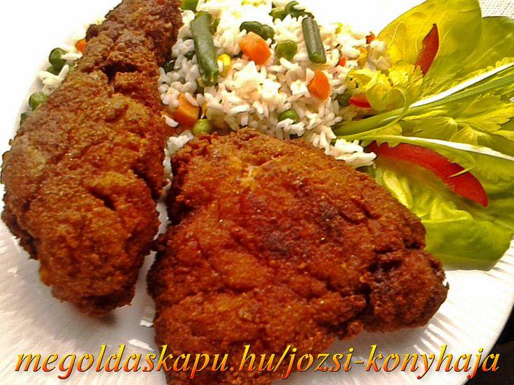 Joghurtban pácolt rántott csirkecomb http://megoldaskapu.hu/csirkecomb-receptek/joghurtban-pacolt-rantott-csirkecomb Joghurtban pácolt rántott csirkecomb | CSIRKECOMB Receptek | Megoldáskapu