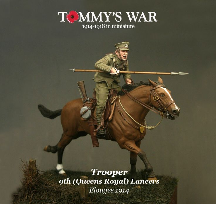 Brtitish Lancer in WWI from Tommy's War, coming soon to HCM!